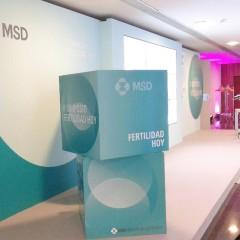 Fabricación, montaje y desmontaje congreso MSD Valencia